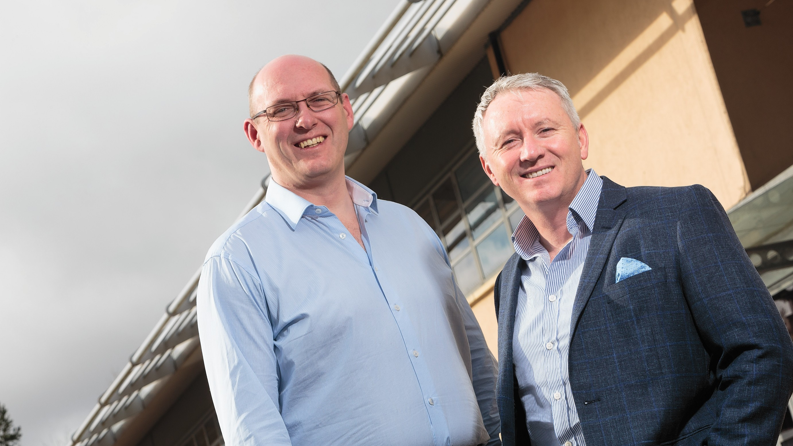 Jeff Soal, Chief Strategic Development Officer at Iqarus and Ged Healy who joins from Exmed as Executive Director (left to right)