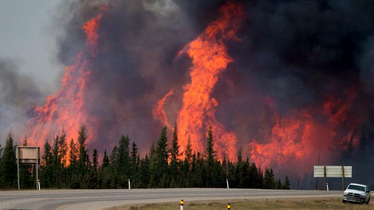 Oil-sands blaze