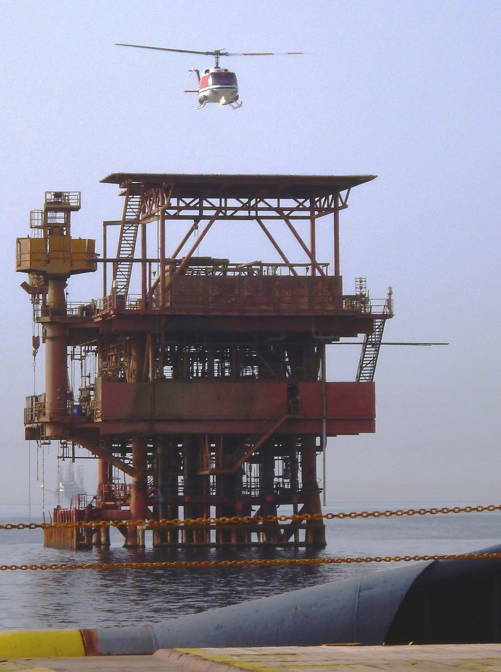 ThinJack team arriving on a Gulf of Suez production platform