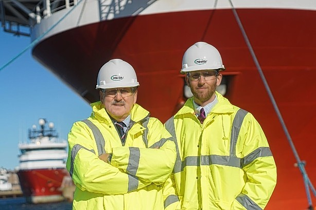 James Murphy, left, and his son, Jamie, of Navitas Compliance Solutions at Peterhead