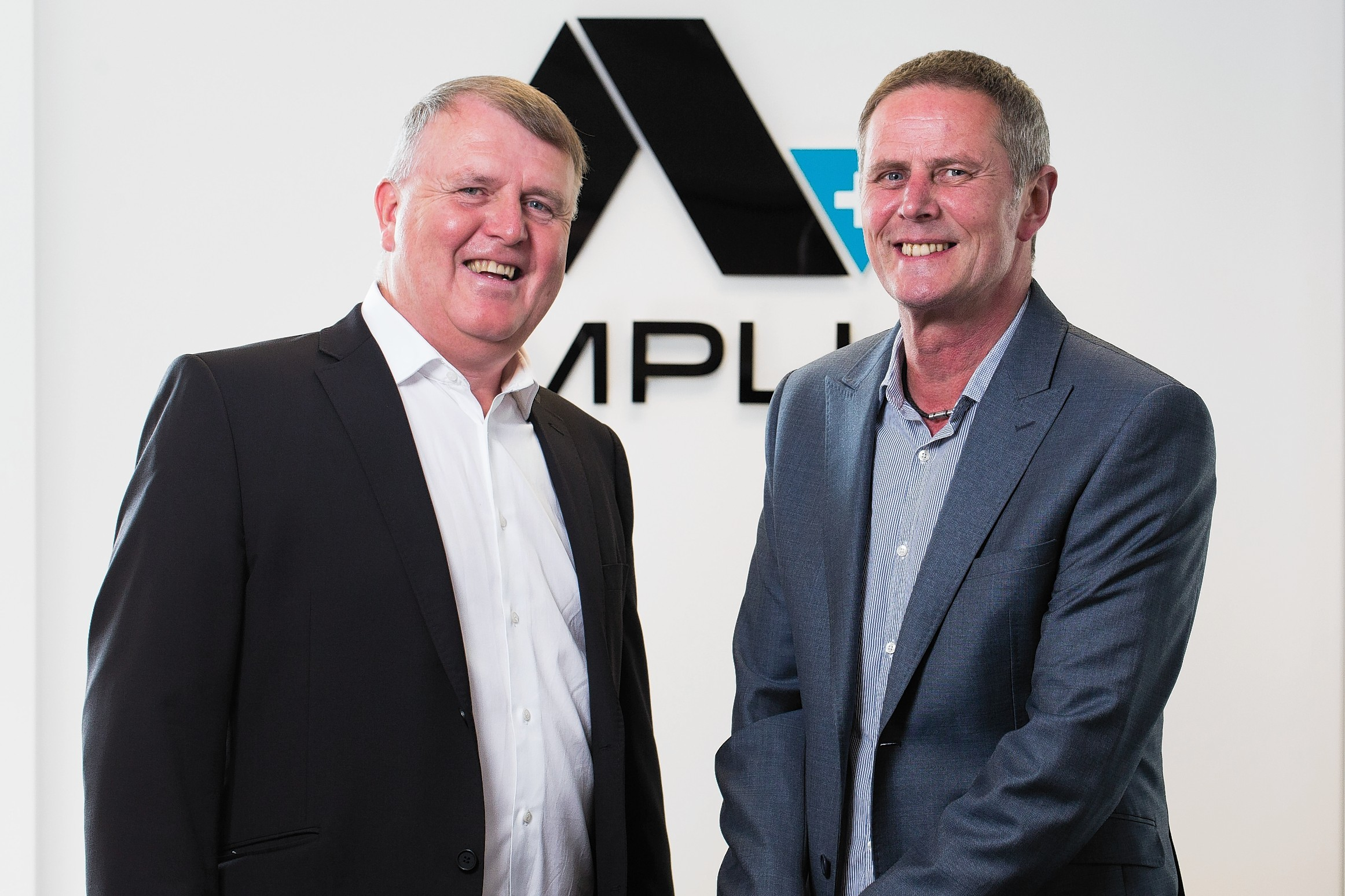 Ian Herd, managing director of Amplus Energy, left, with Stuart Reid, managing director of Andrews Survey