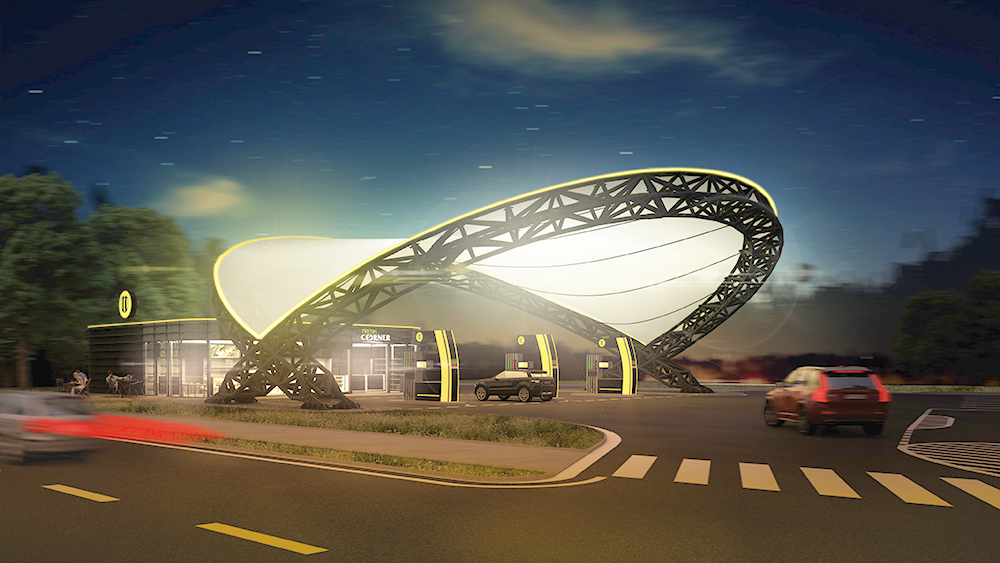 The new Slovnaft service station