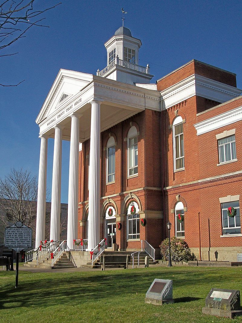 The Marshall County courthouse in West Virginia