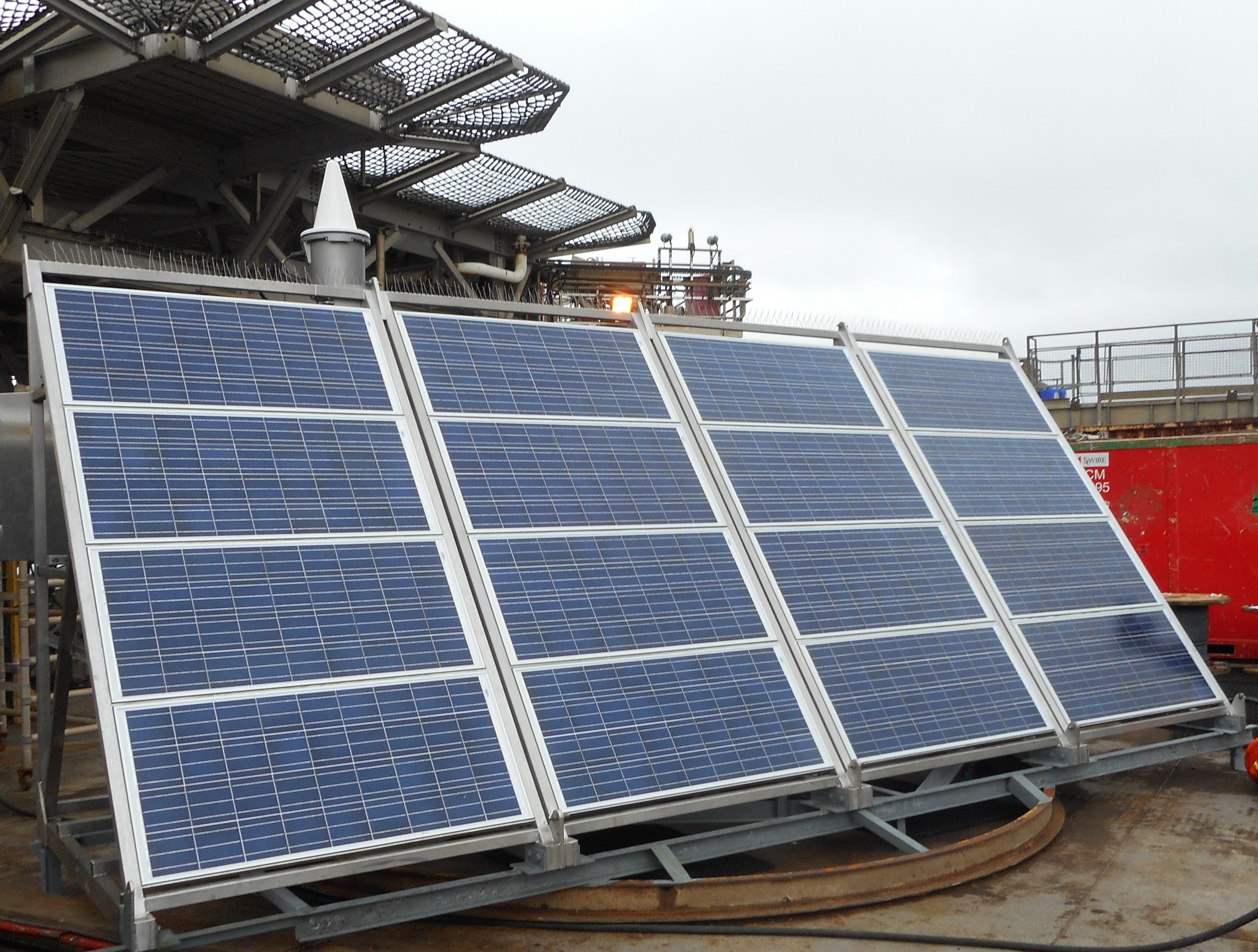 Pharos solar skid installed on the Brent Delta platform