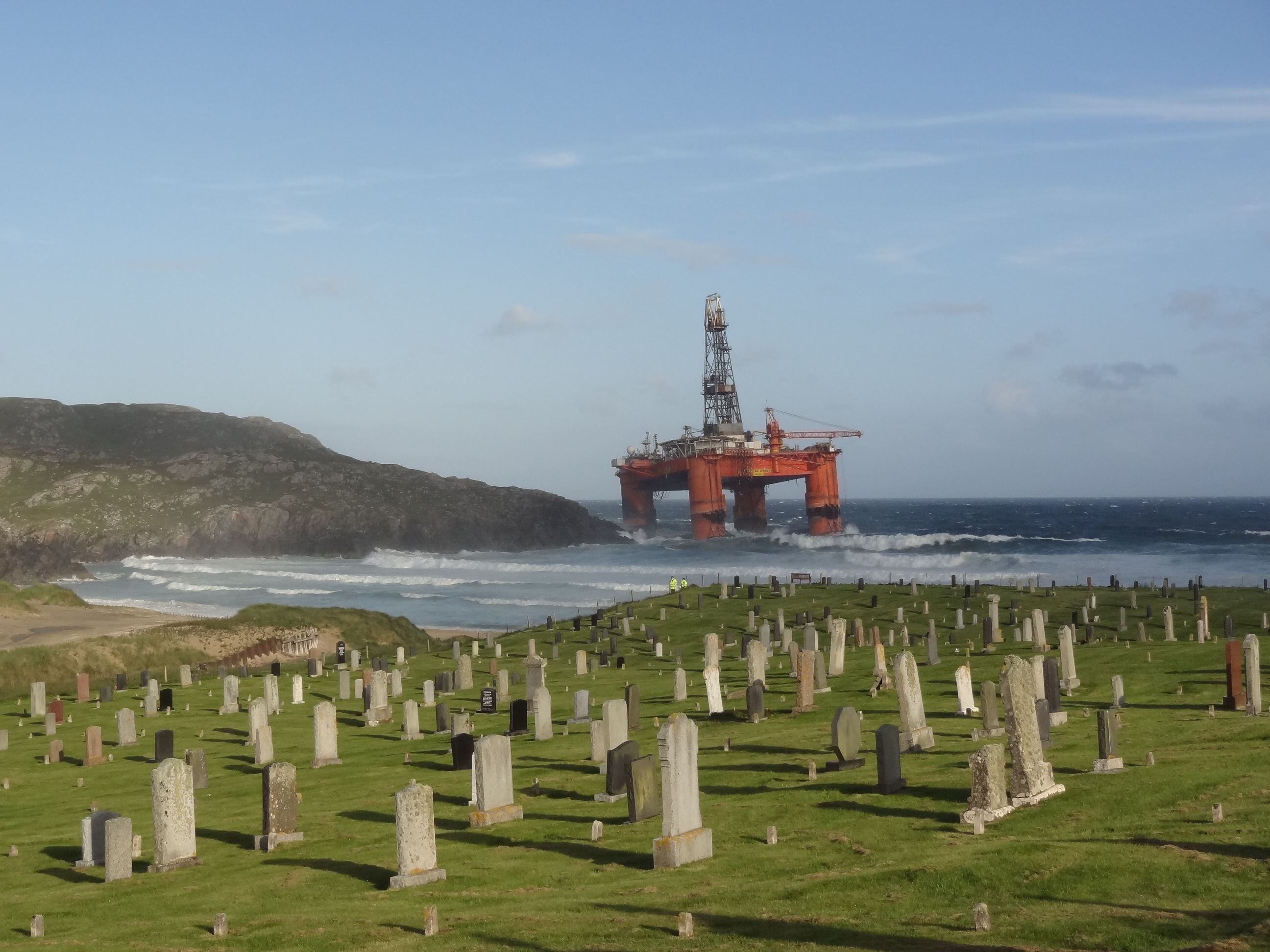 Grounded Transocean rig