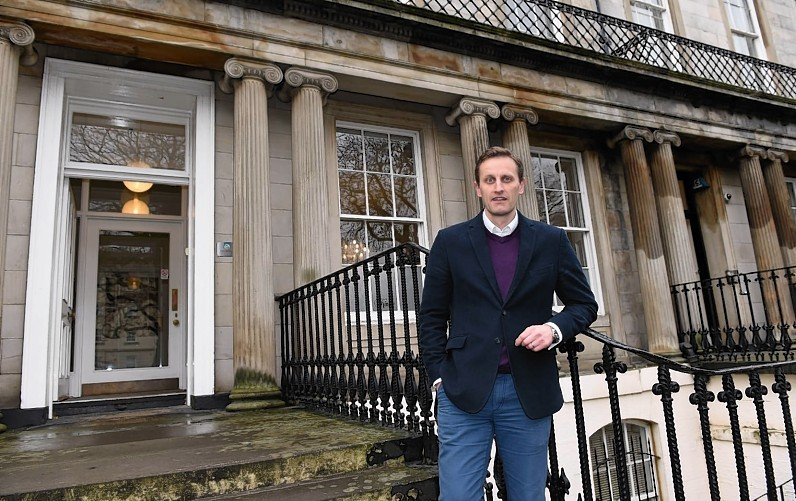 Edinburgh Asset Finance director, Neil Mitchinson, at their offices on Hopetoun Crescent, Edinburgh.