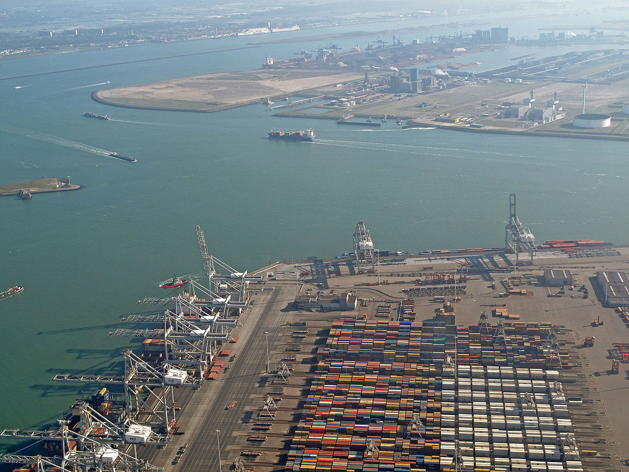 The port of Rotterdam.