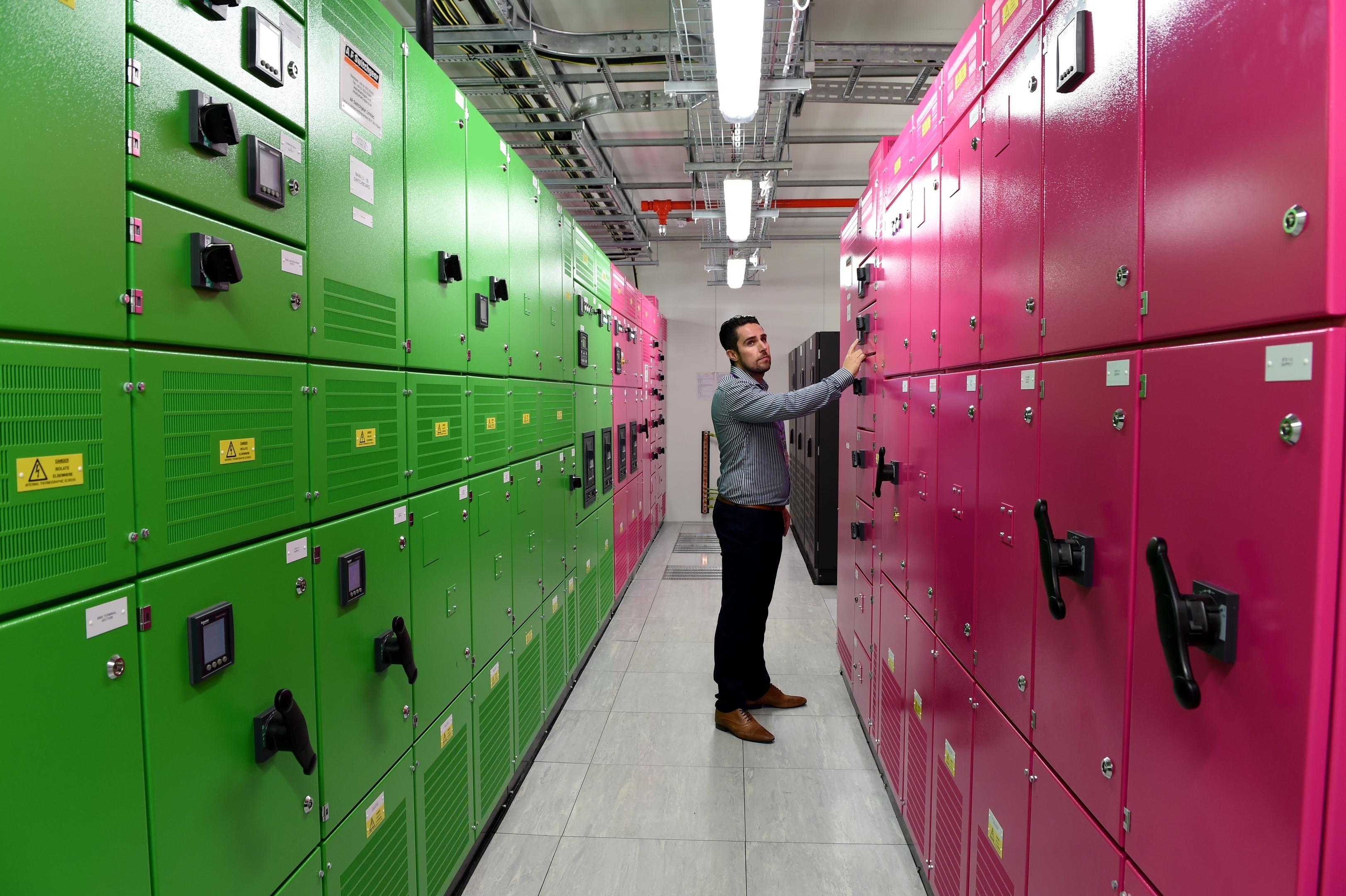 brightsolid data centre technician Matthew Hughes
