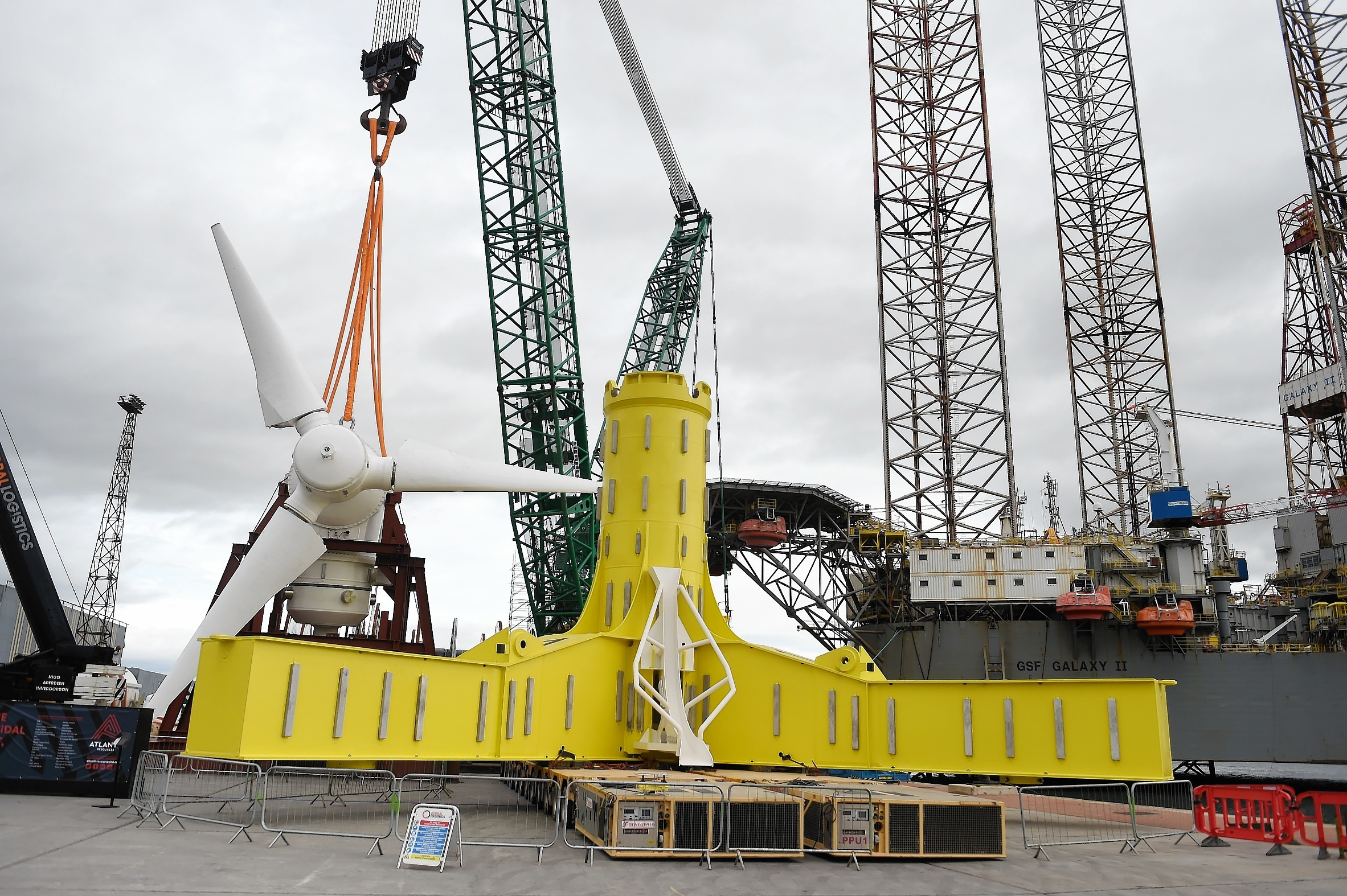 An underwater turbine for the Meygen project in the Pentland Firth