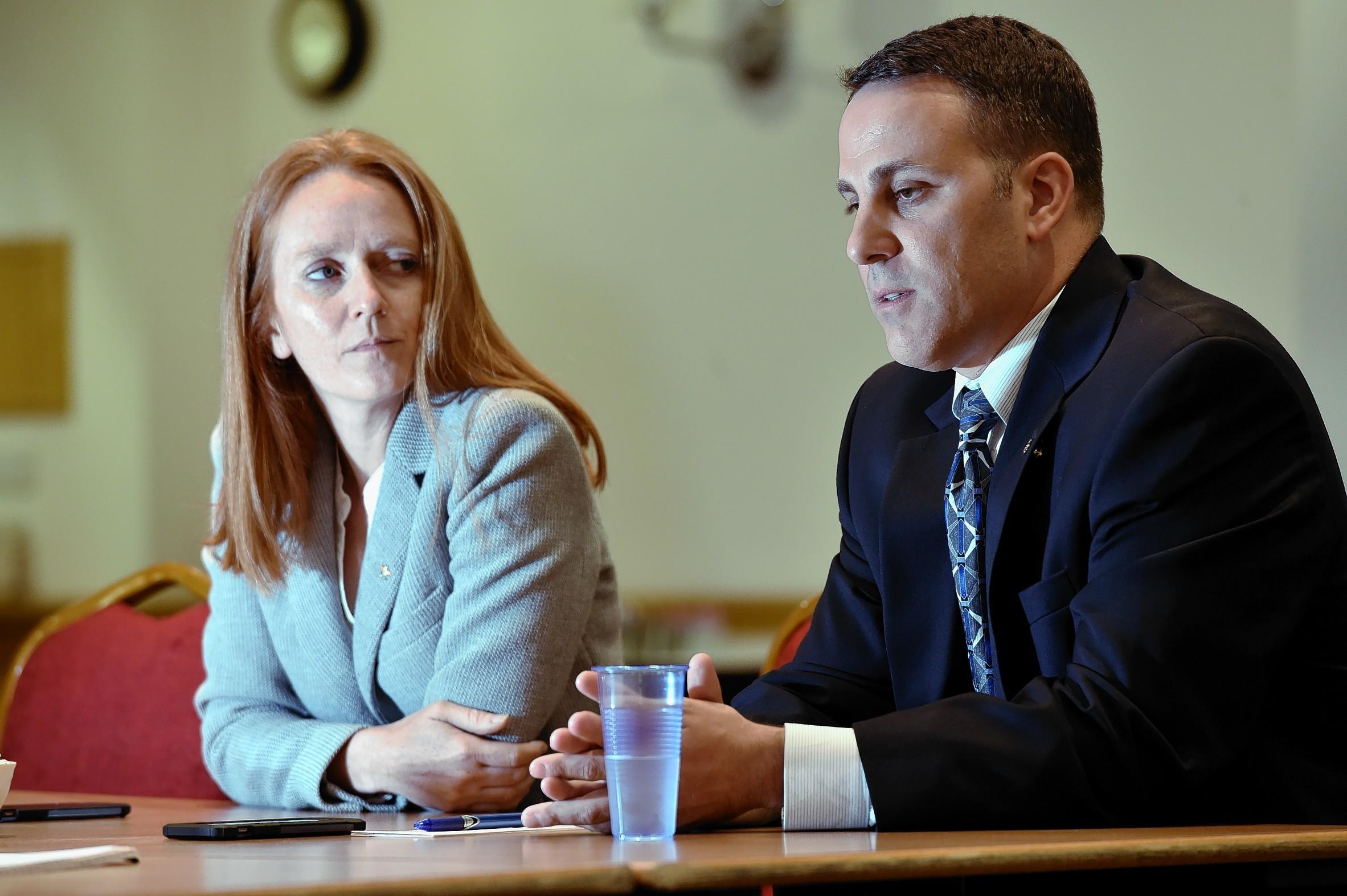 Sikorsky vice presidents Nathalie Previte (left) and Dana Fiatarone.