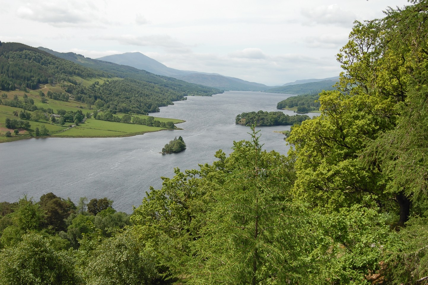 Loch Tummel taken from Queens View by Marie Fowler