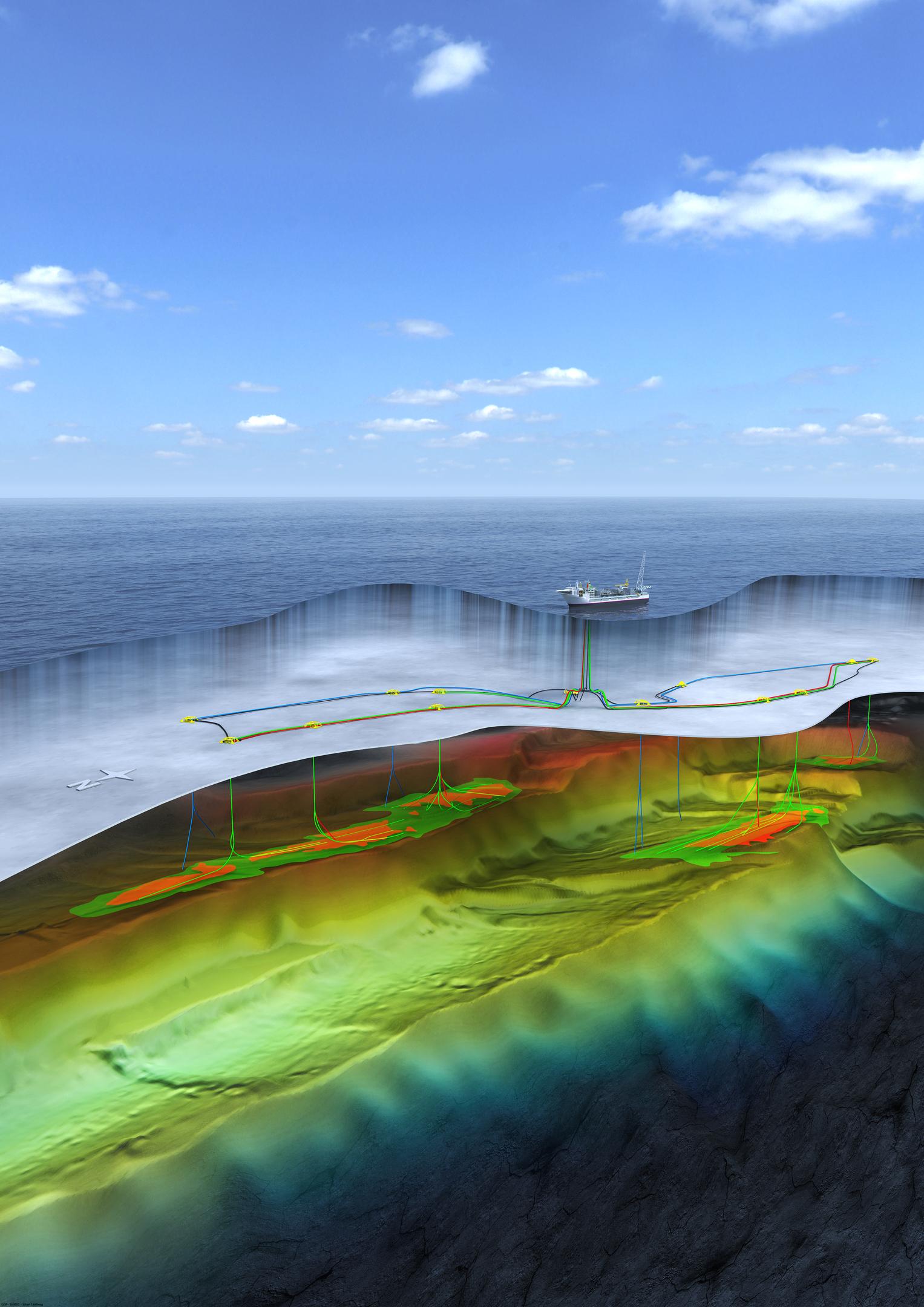Computer generated image of the Johan Castberg field. Photo: Statoil ASA