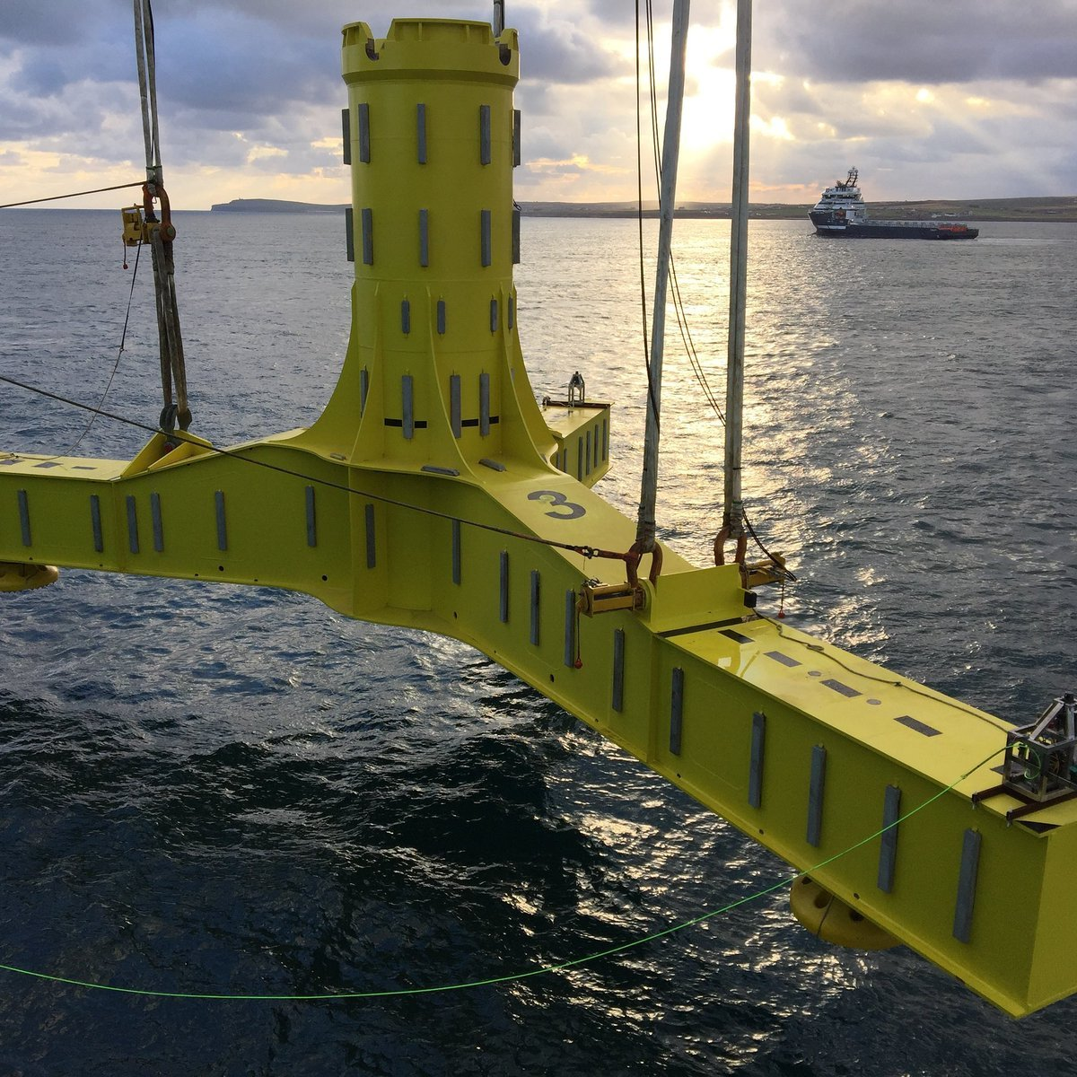 Installation work taking place on the MeyGen project