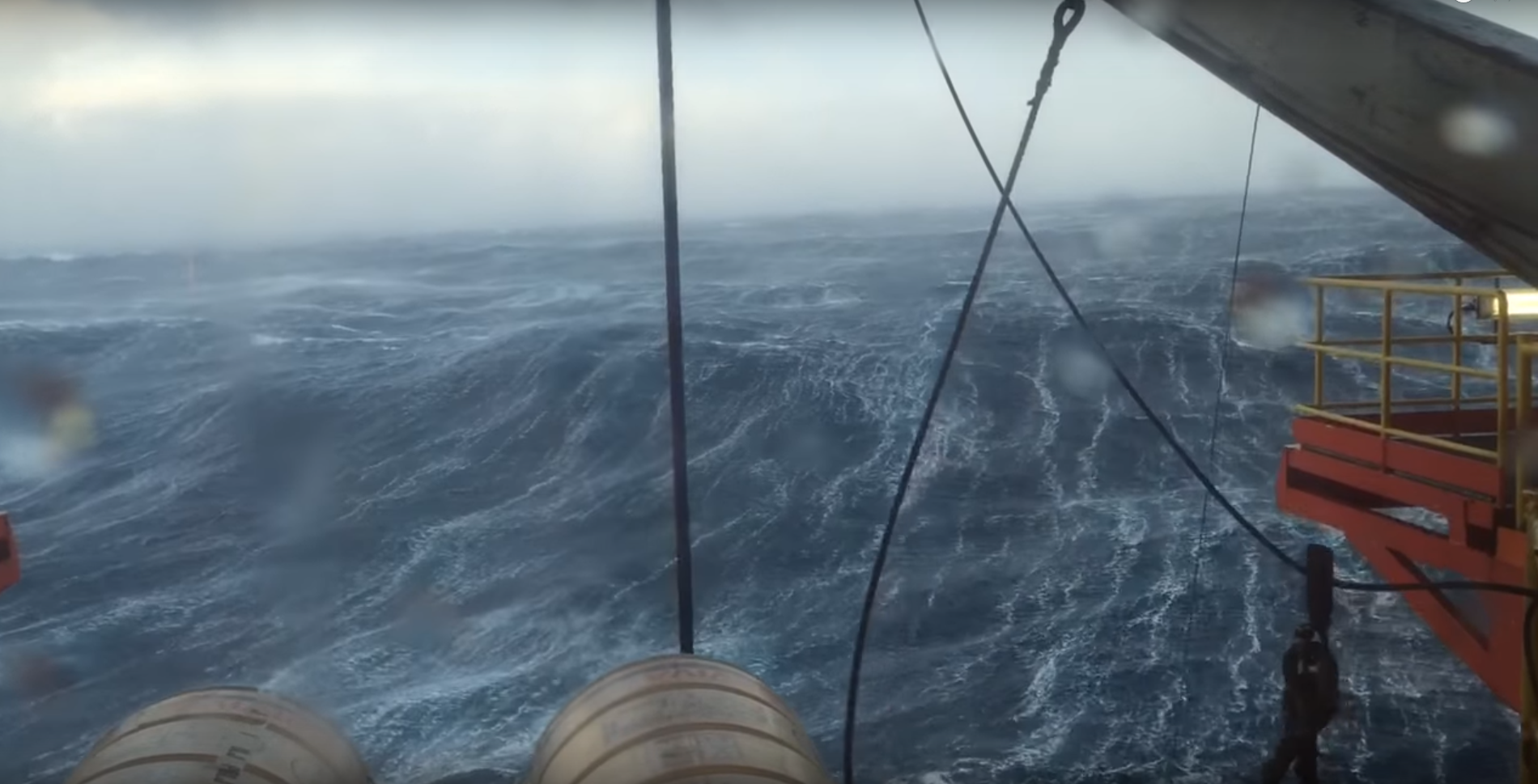 Incredible waves have been recorded in the North Sea