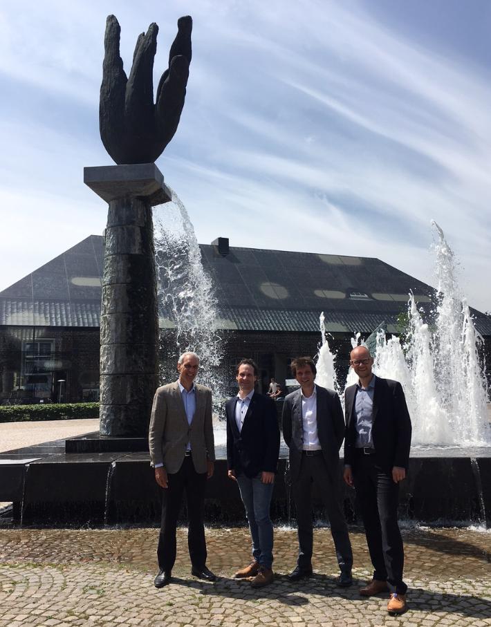 L-R: Gerard Keser, N-Sea CEO; Jochem Langenhuijzen, Bodac CEO; Paul van Waalwijk van Doorn, N-Sea General Manager; Dirk van de Vleuten, Bodac Manager