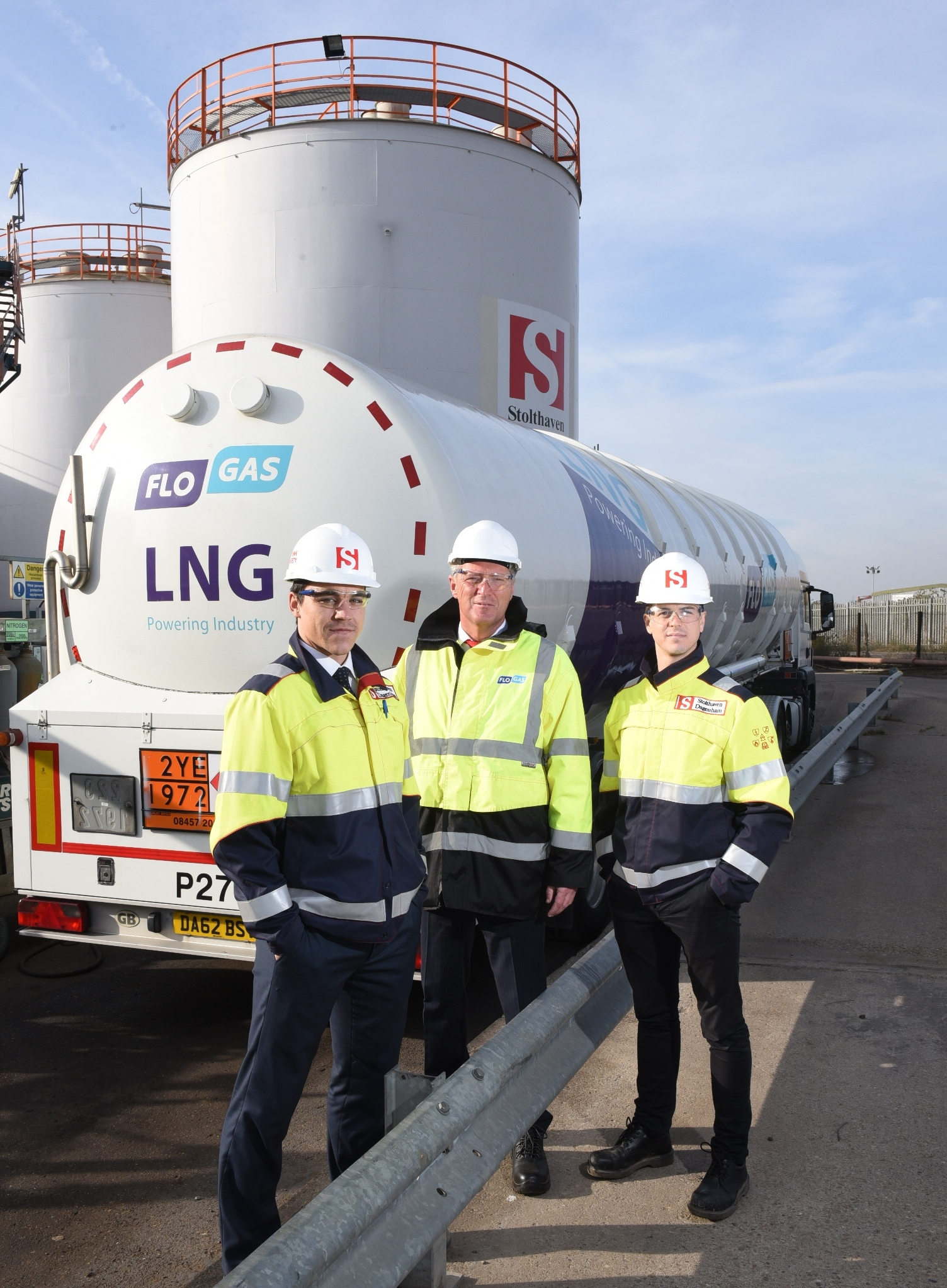 Port of Rosyth LNG Project (l to r Zackarie Fortin-Brazeau (SN) Rob McCord (Flogas) Jonanthan Varquin (SN))