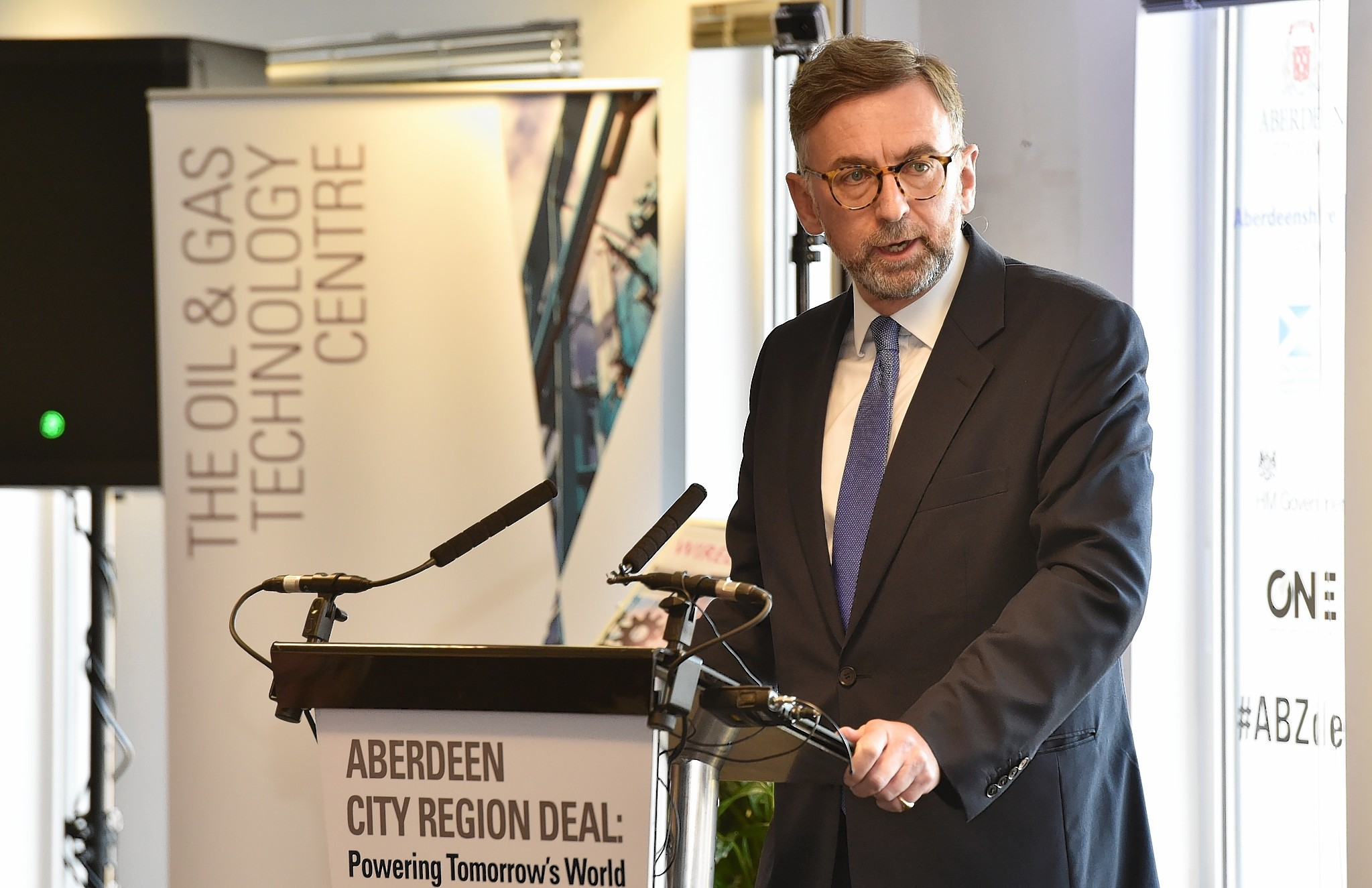 Lord Dunlop at the signing of the Aberdeen City Region Deal.