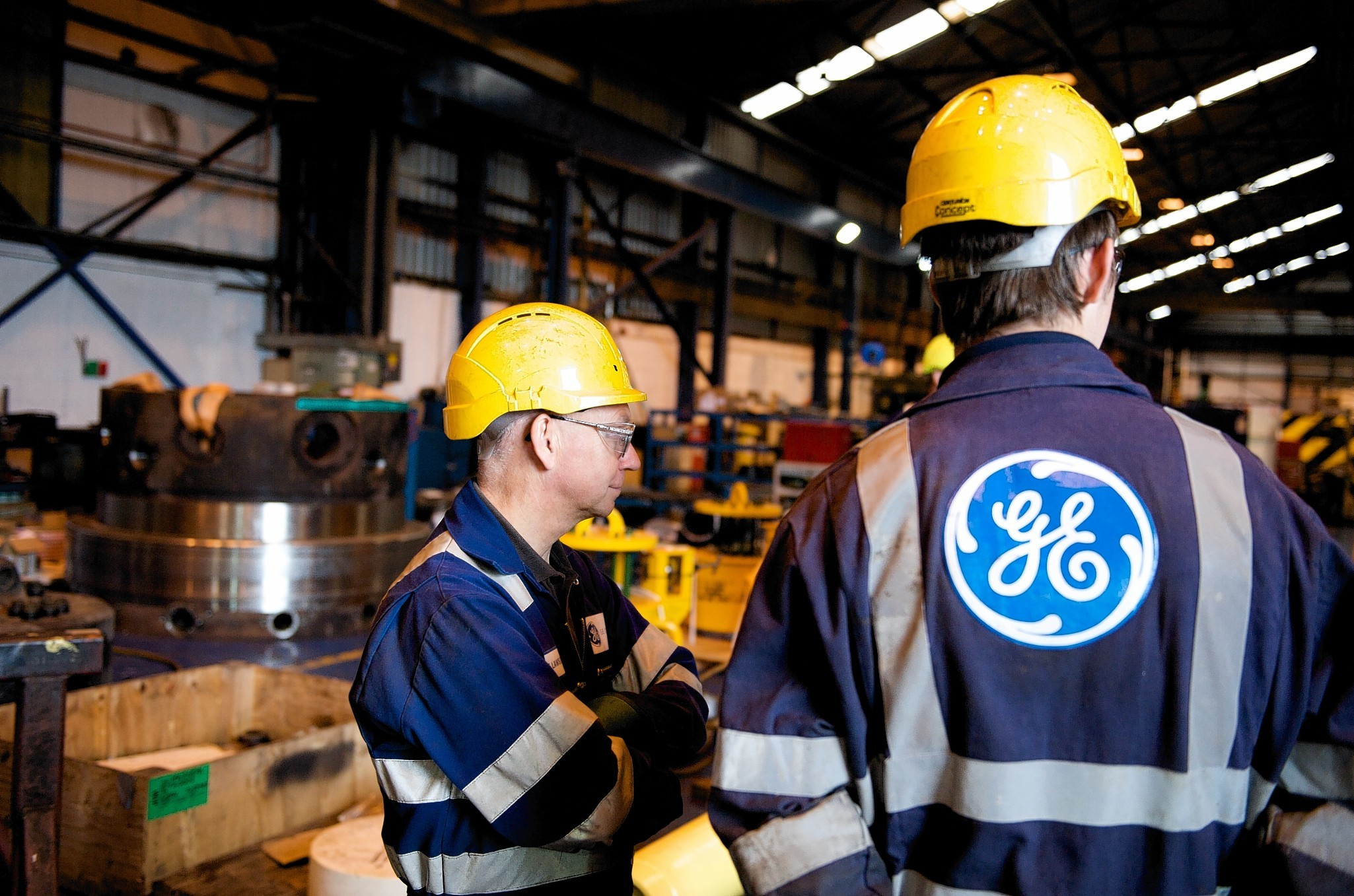 A file photo of employees at GE Oil and Gas's Montrose facility  (handout pic)