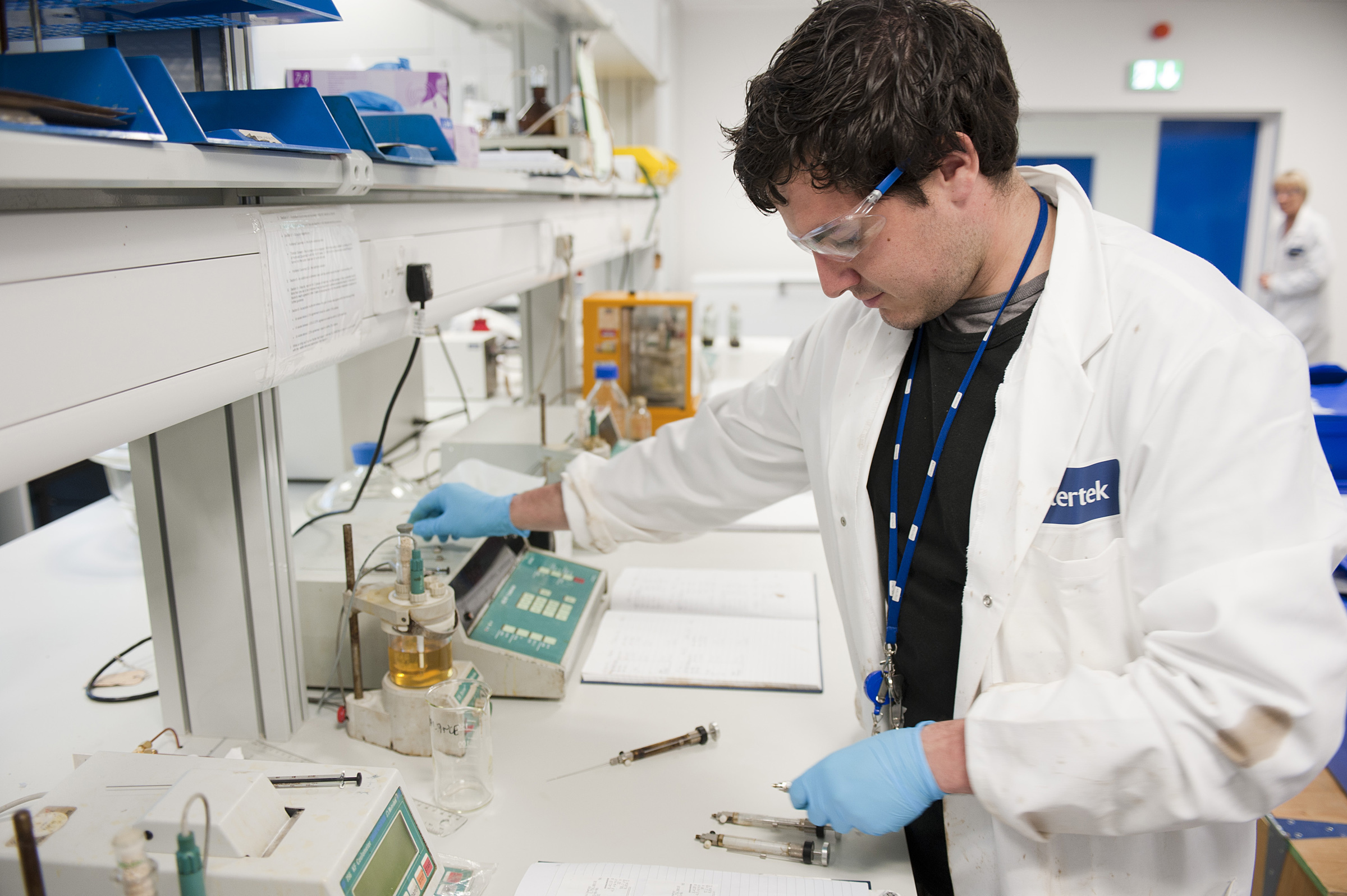 An Intertek employee working in the firm's Aberdeen lab.