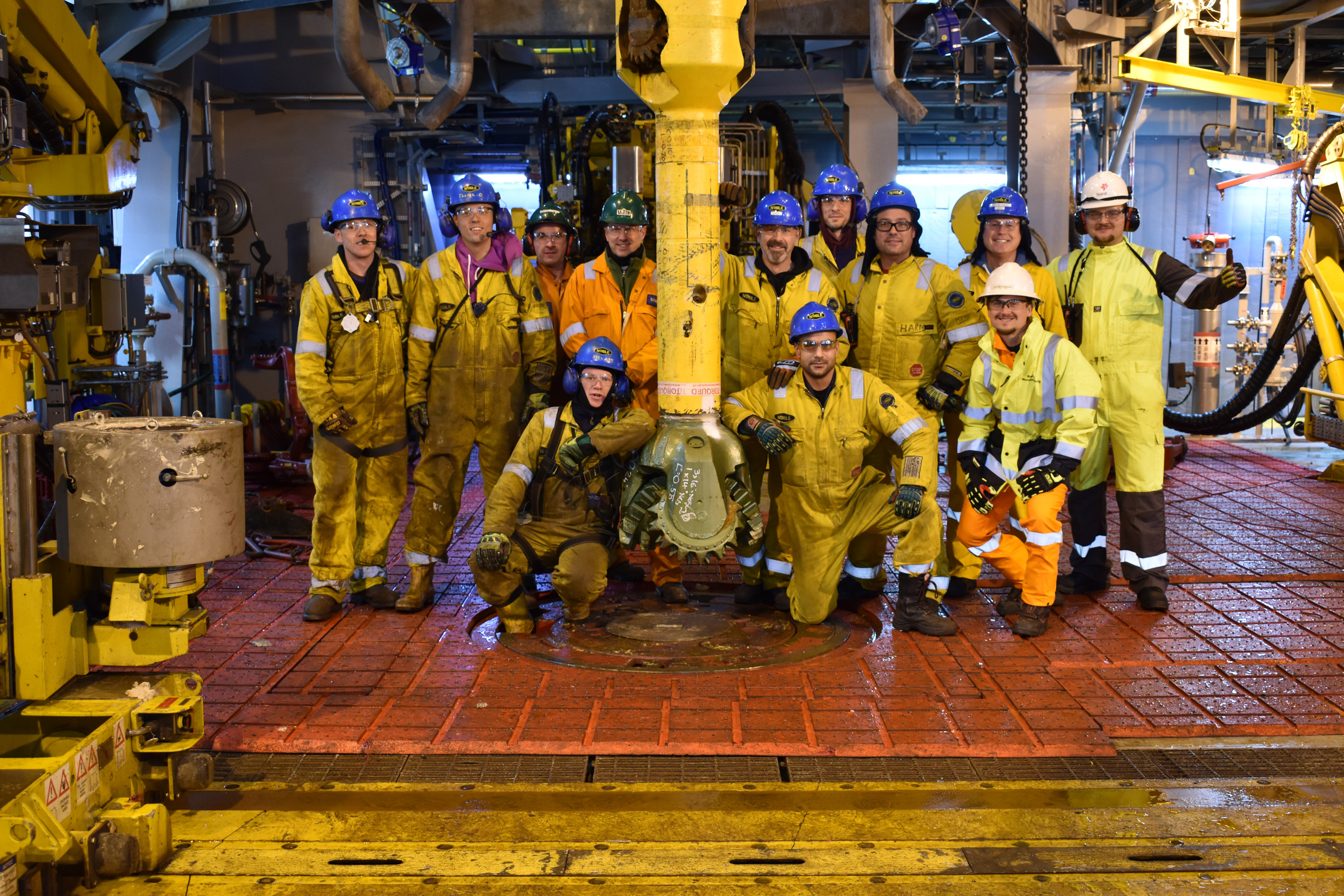 The drilling team on Mariner. Photo from Statoil