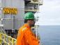 An oil worker on the Cygus field