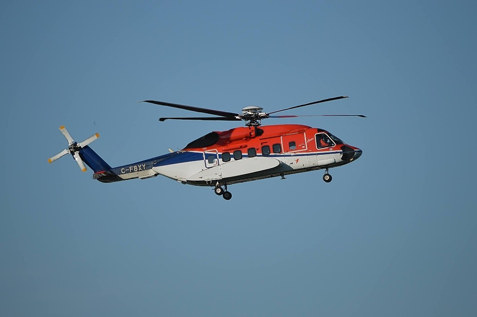 A file photo of a CHC-operated Sikorsky s-92 helicopter
