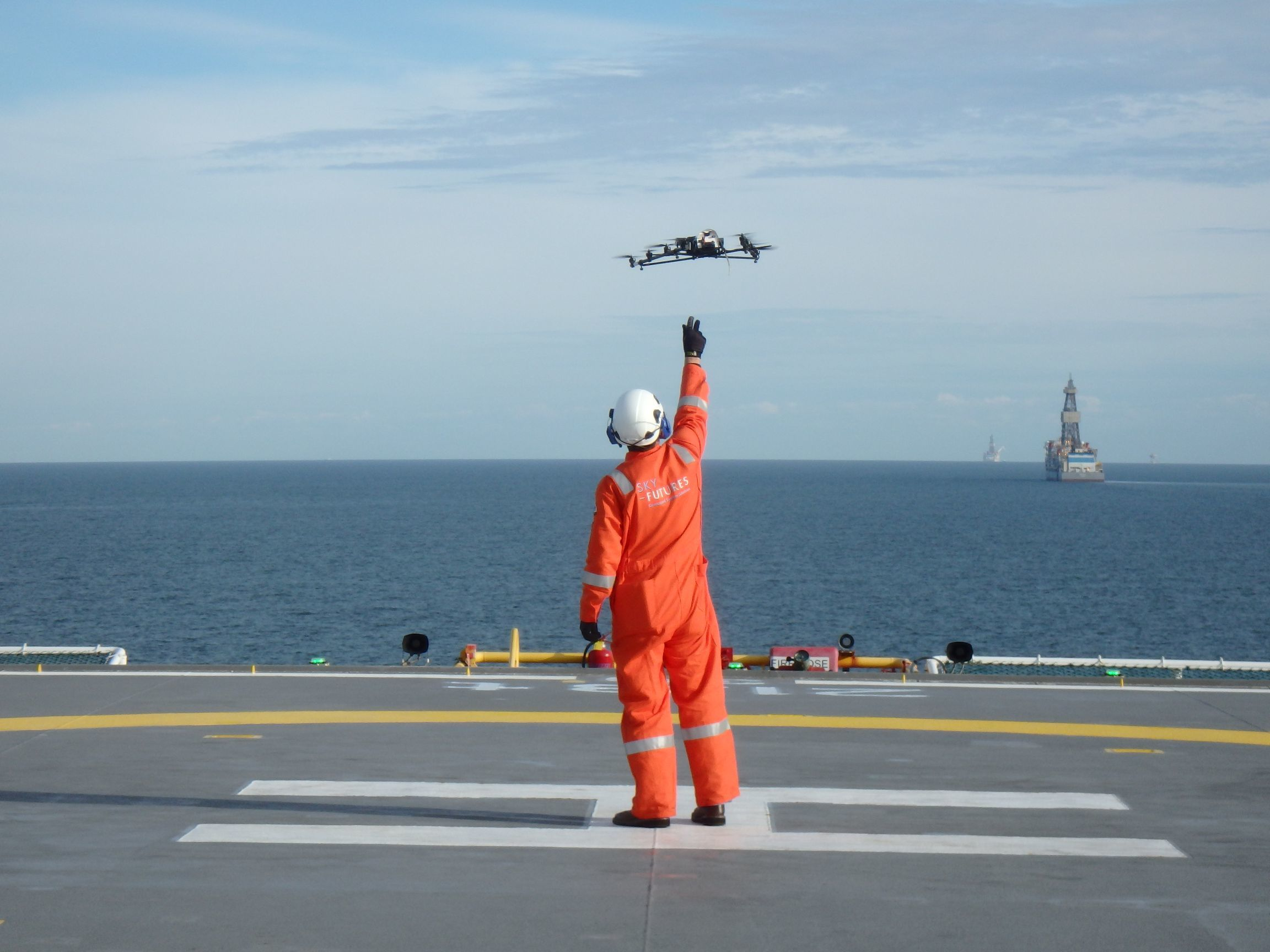 Sky-Futures uses drones to inspect oil and gas platforms.