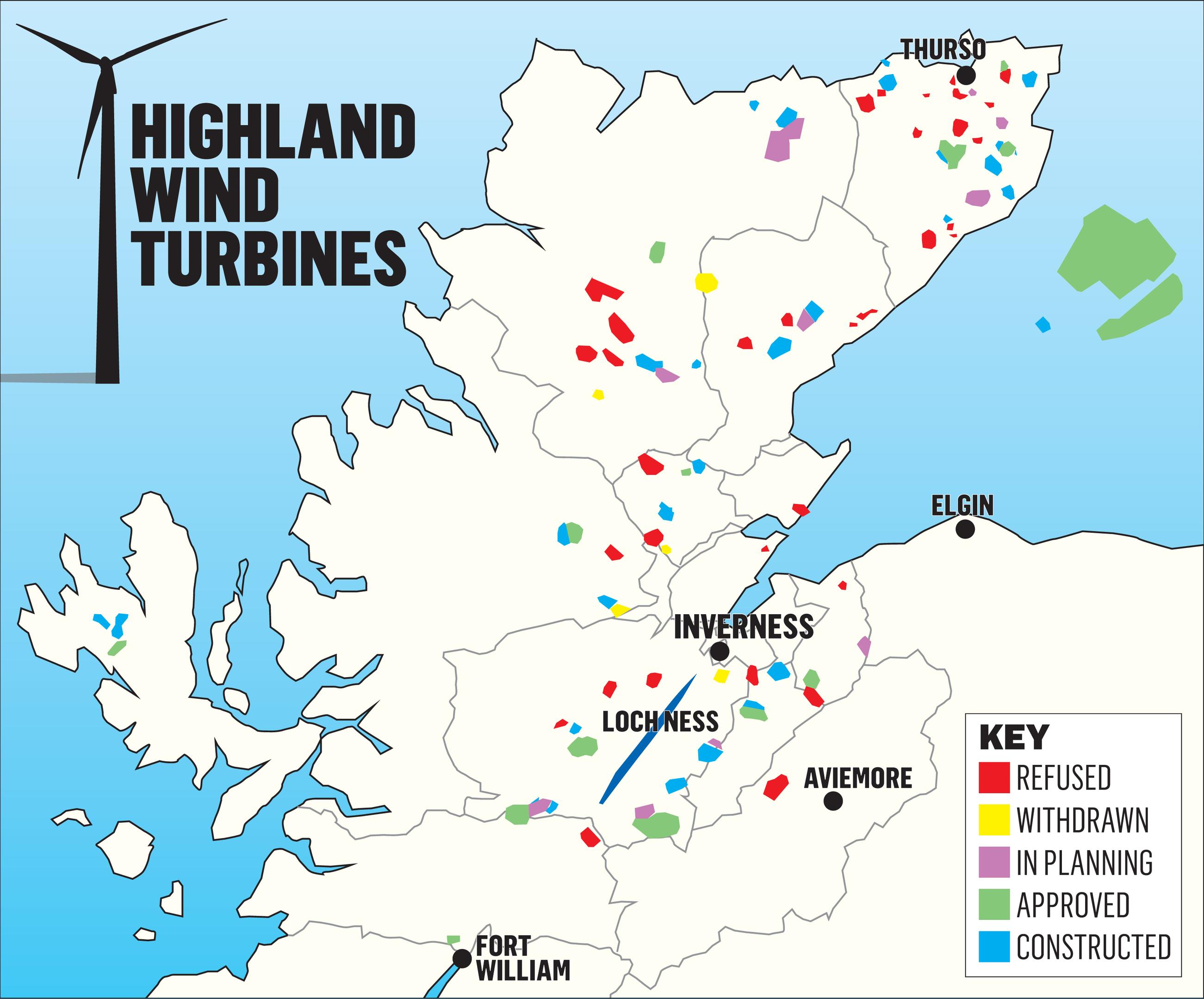 Windfarm map