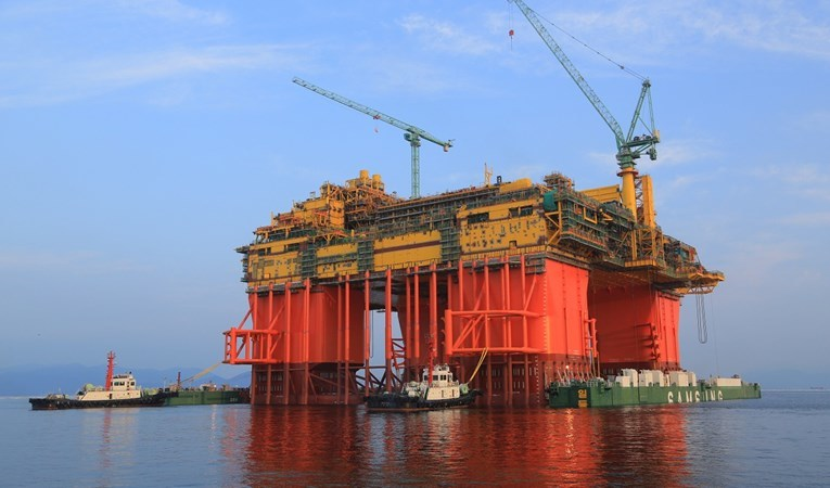The Ichthys LNG Project's massive central processing facility. INPEX