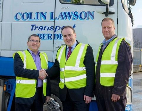 Colin Lawson, energy minister Paul Wheelhouse and Craig Harris