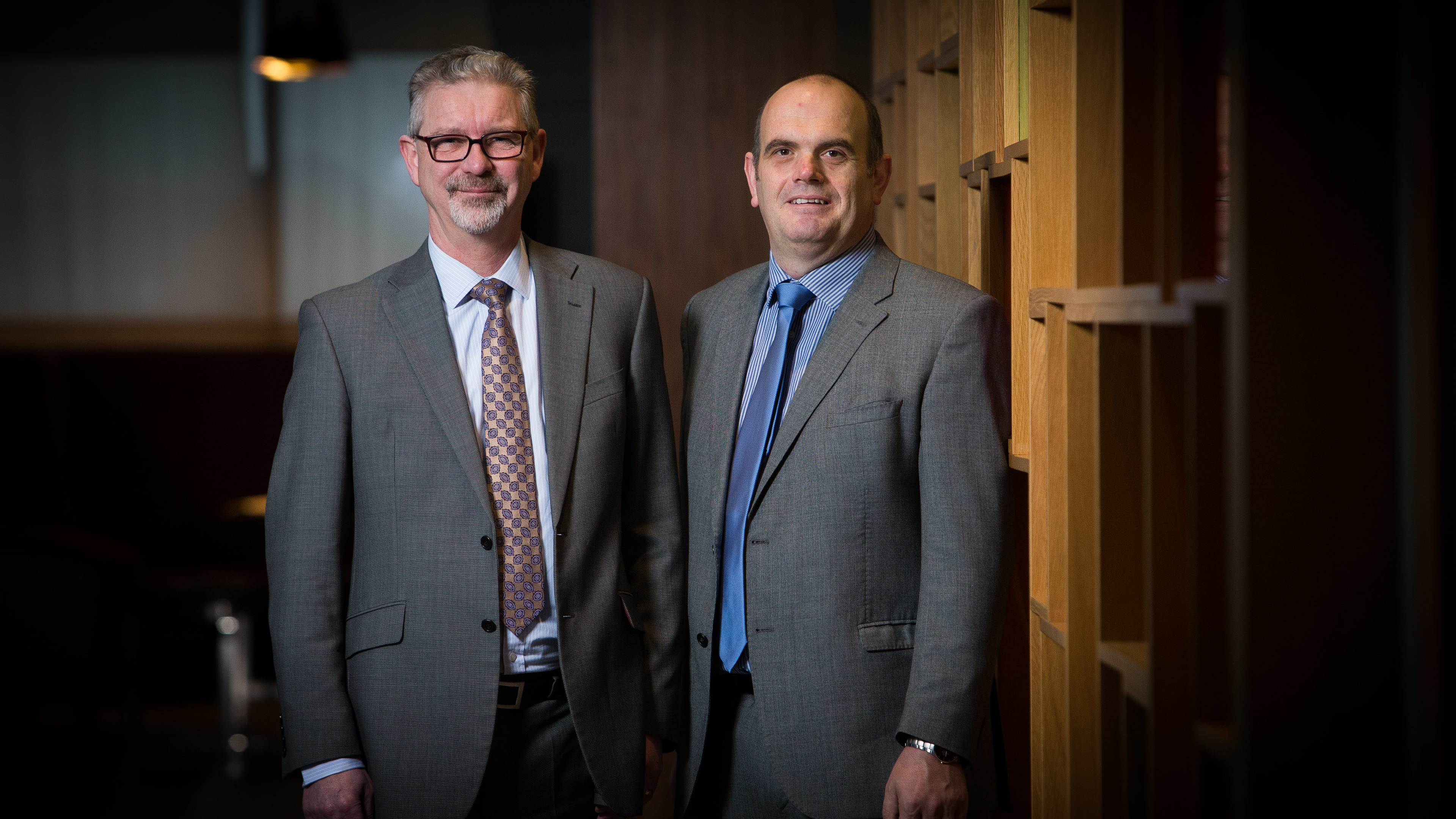 Mac managing director Graeme Reid, right, with Paul Shrieve, BV regional chief executive of North Sea offshore operations