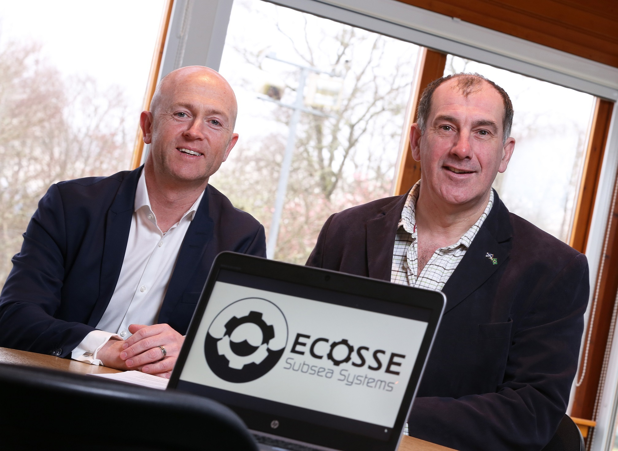 ESS managing director Mark-Gillespie, left, with chairman Mike Wilson