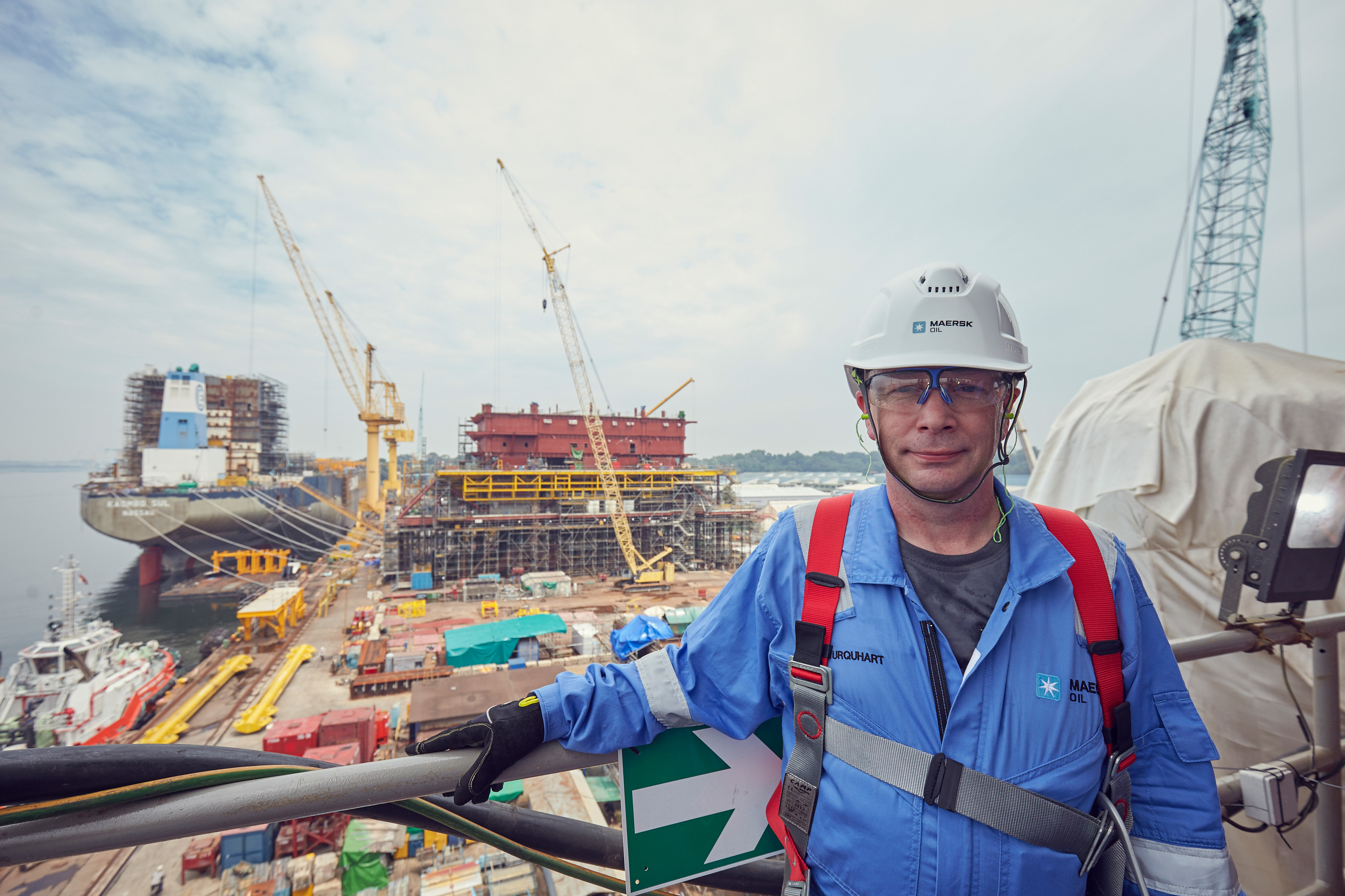 Martin Urquhart, Culzean project director for Maersk Oil, at the Admiralty Yard in Singapore. Photograph courtesy of Alfred NG Photography