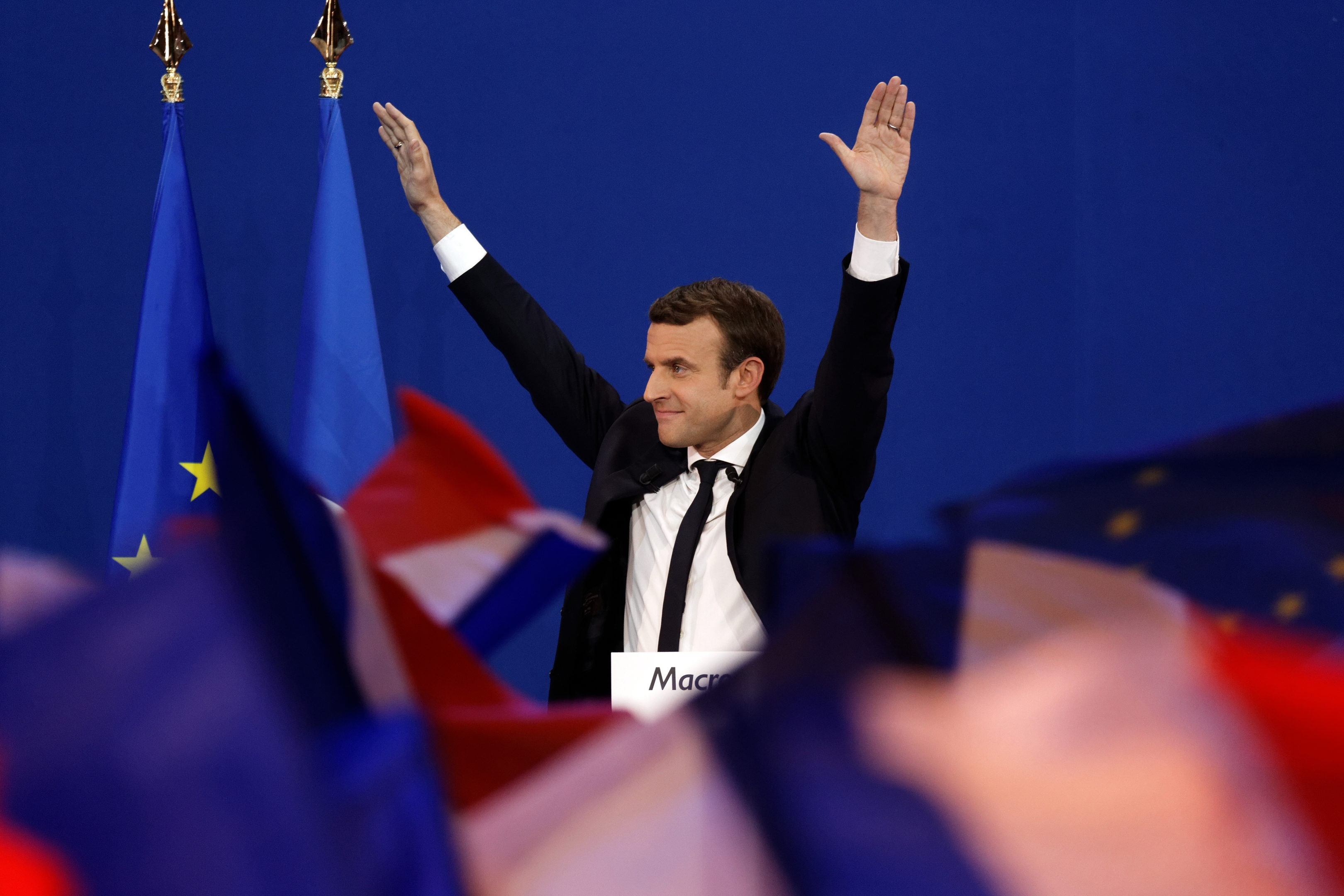Founder and Leader of the political movement 'En Marche !' Emmanuel Macron