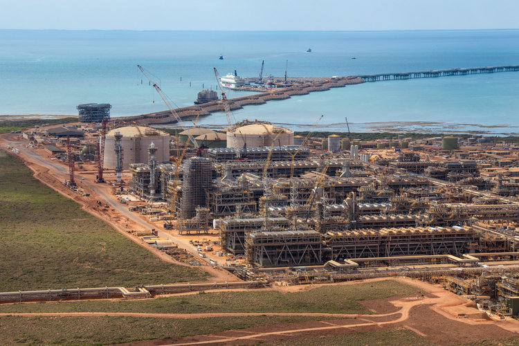 Chevron Corp. Gorgon project on Barrow Island, Australia. Source: Chevron Australia Pty Ltd. via Bloomberg