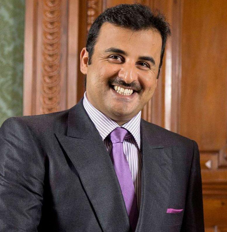 Qatar's emir, Sheikh Tamim bin Hamad Al Thani