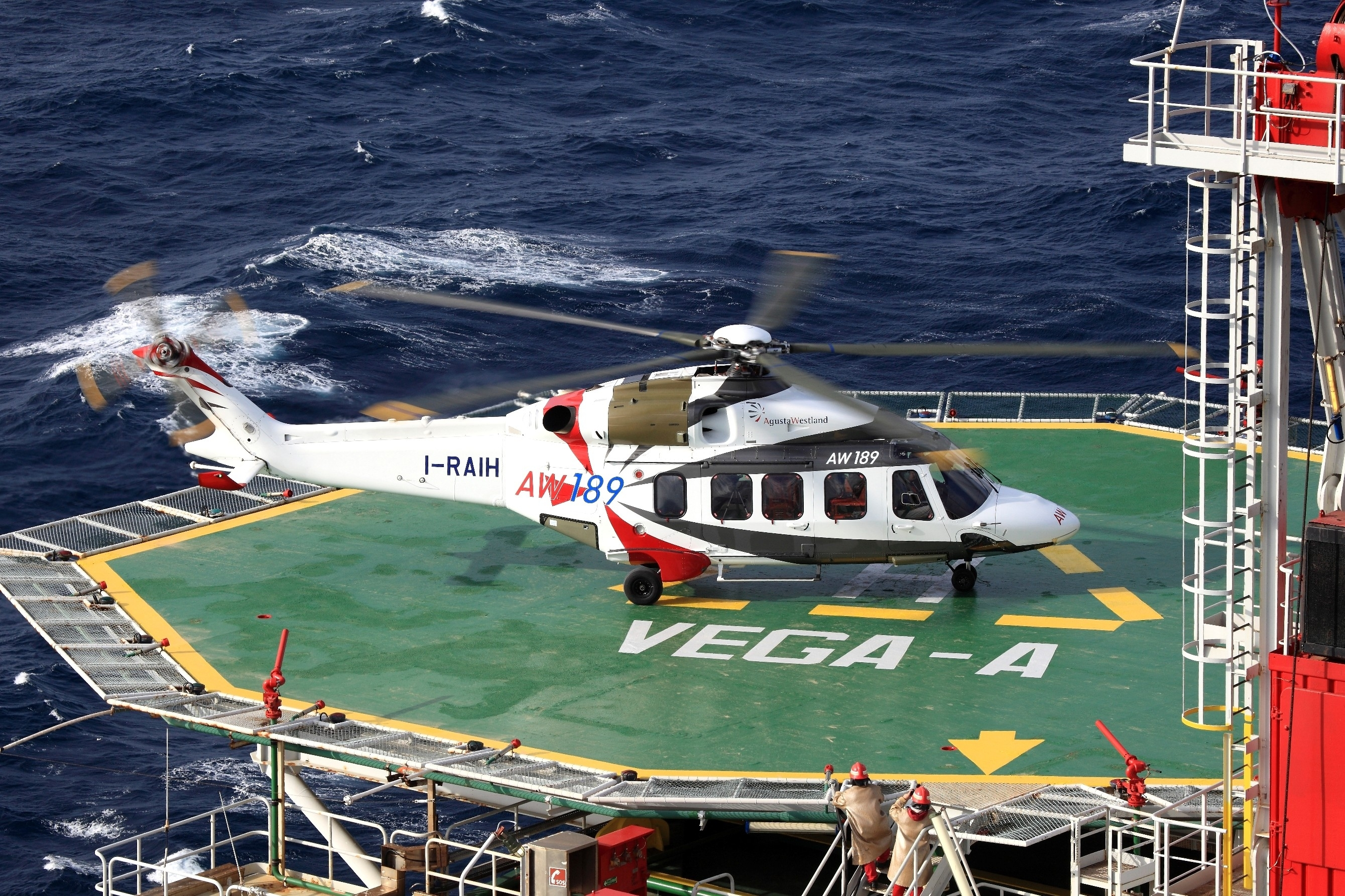An AugustaWestland AW189 helicopter