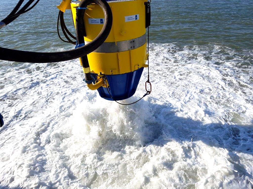 A new high velocity water jetting system is to be fitted to all James Fisher Subsea Excavation tools