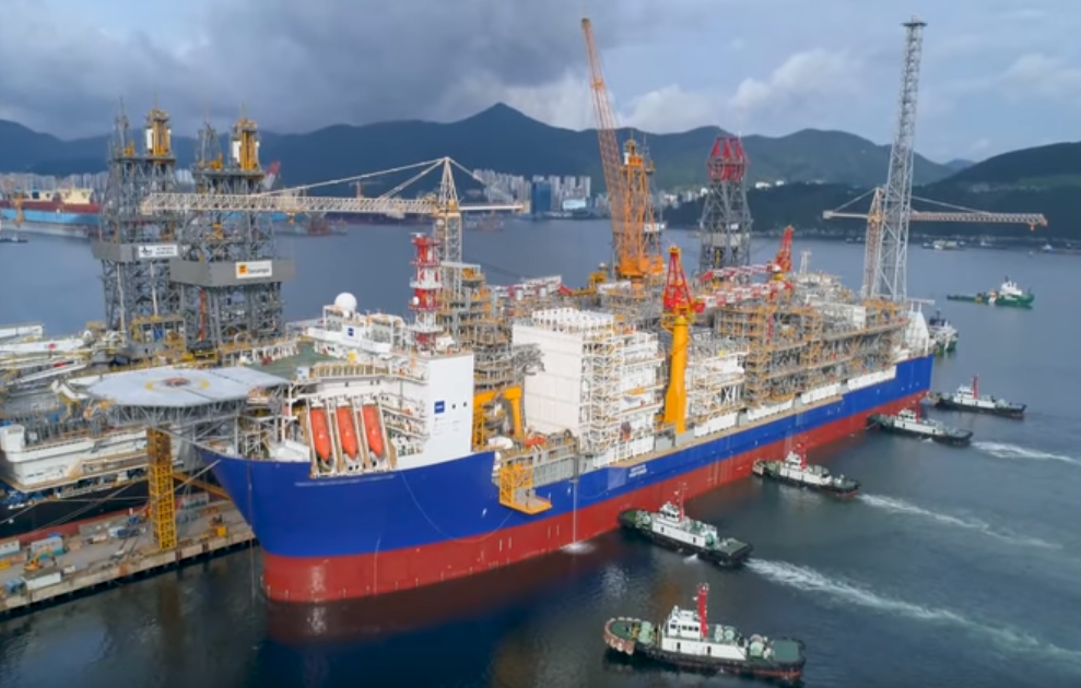 Ichthys FPSO sets sail from Korean yard