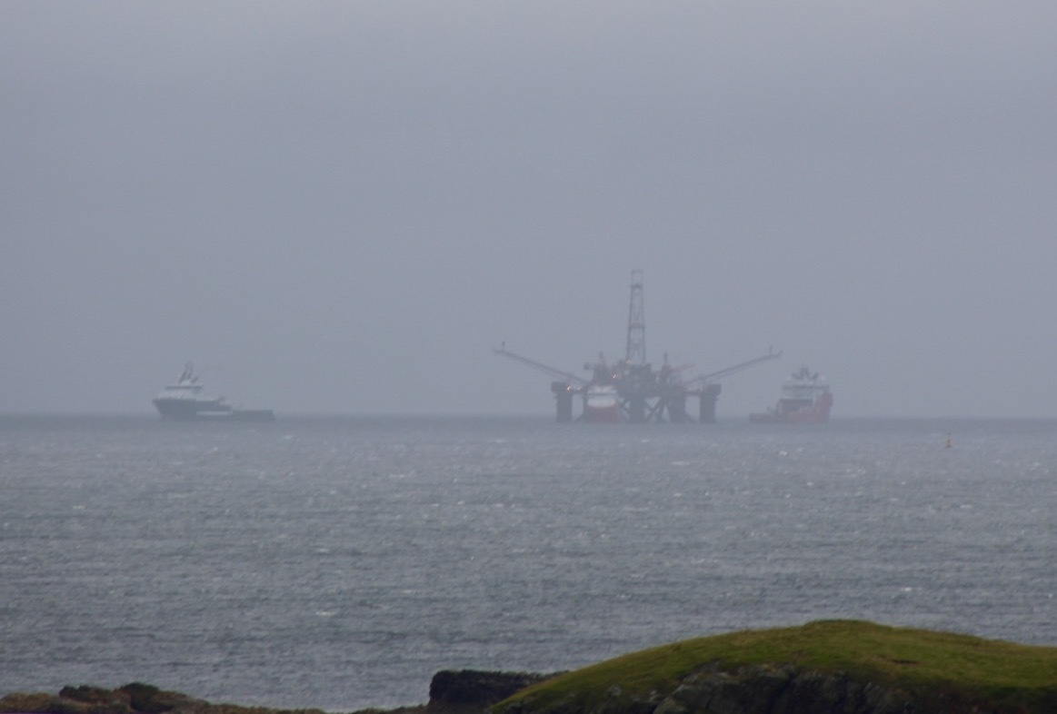 The Buchan Alpha platform arriving in Shetland last year for disposal.