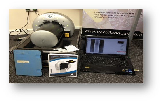 Kit for detecting corrosion using radiography