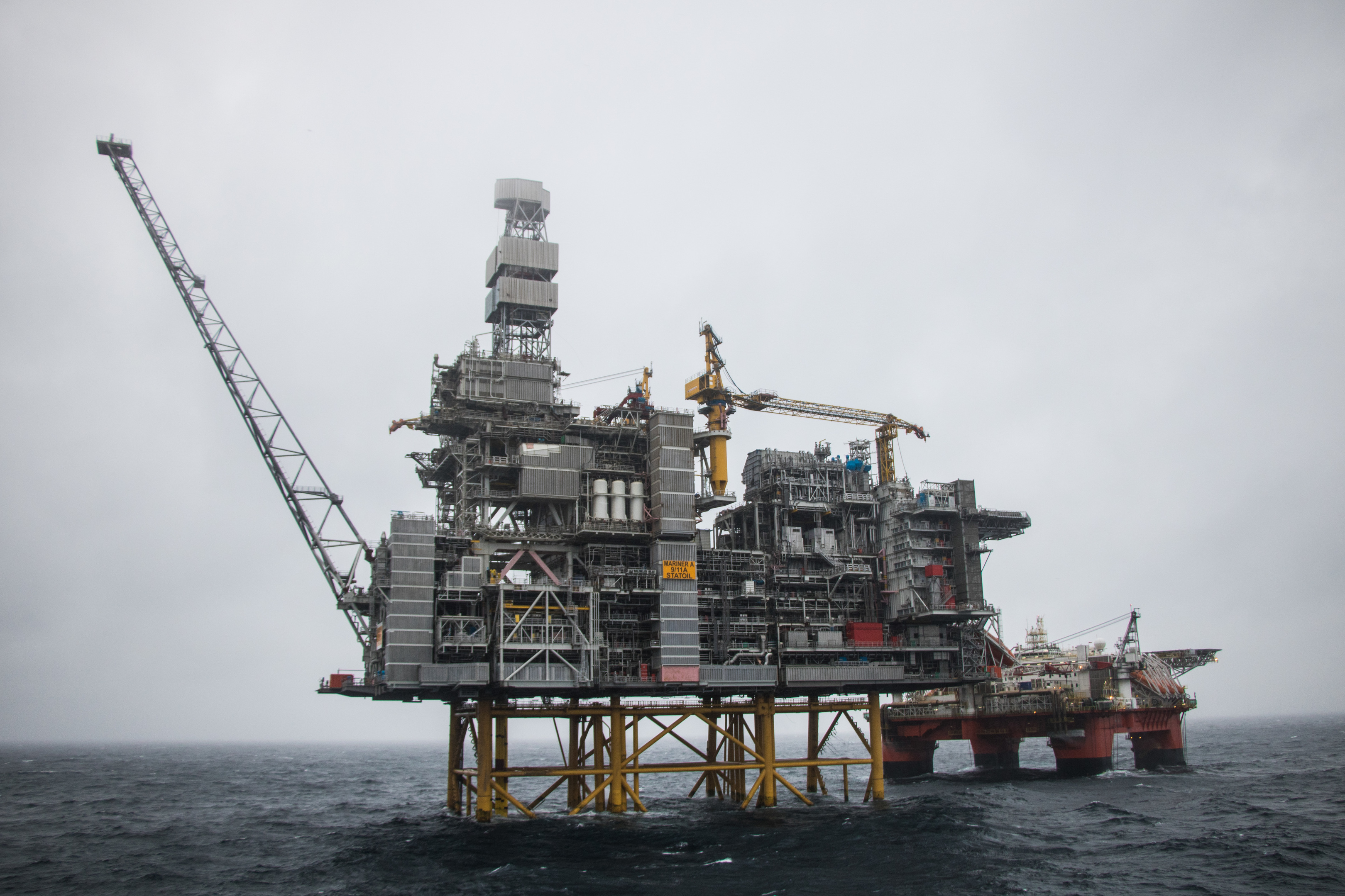 Mariner platform with the Safe Boreas. Photo credit: Jamie Baikie/Equinor