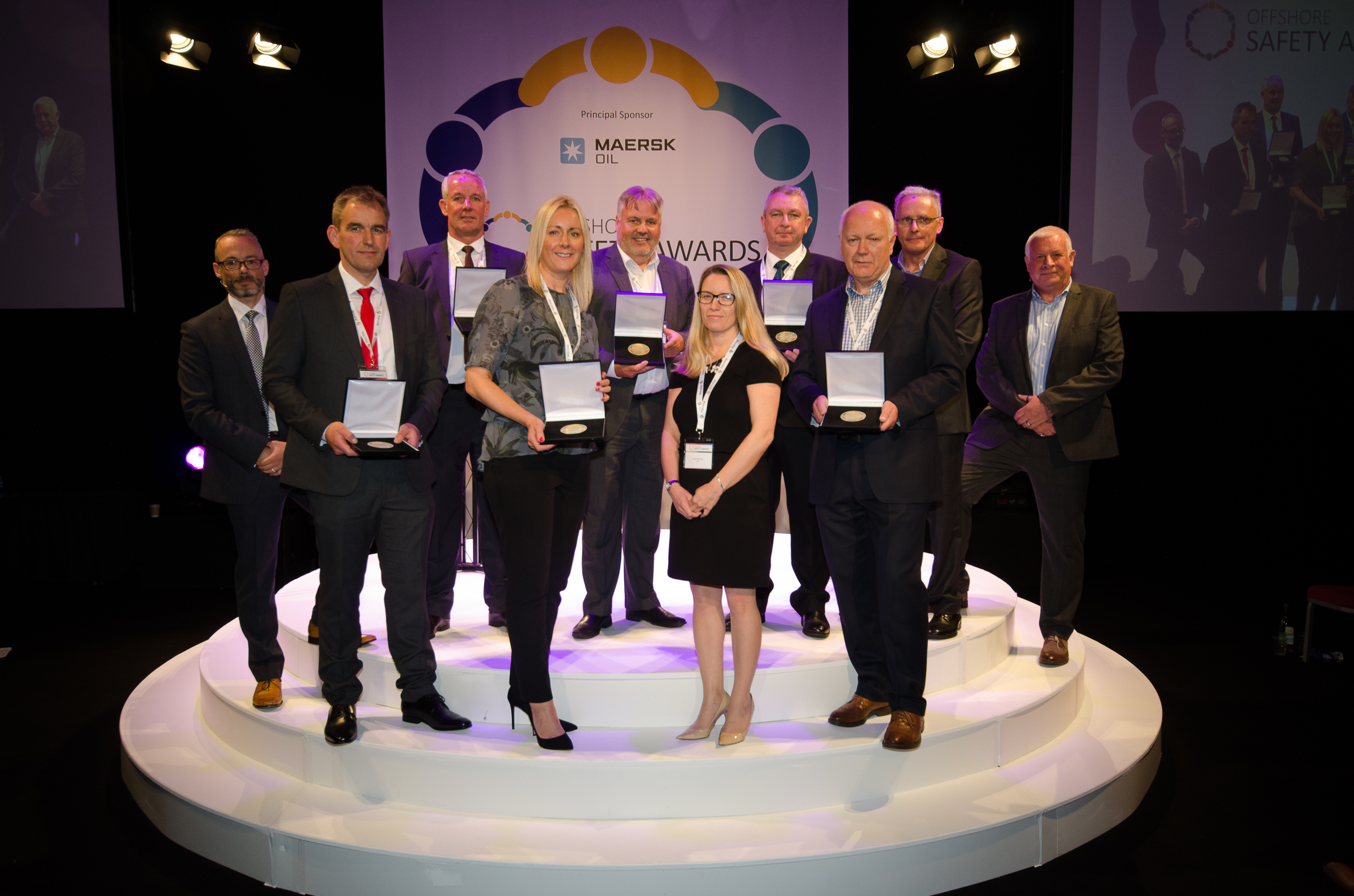 The winners of the Offshore Safety Awards in 2017