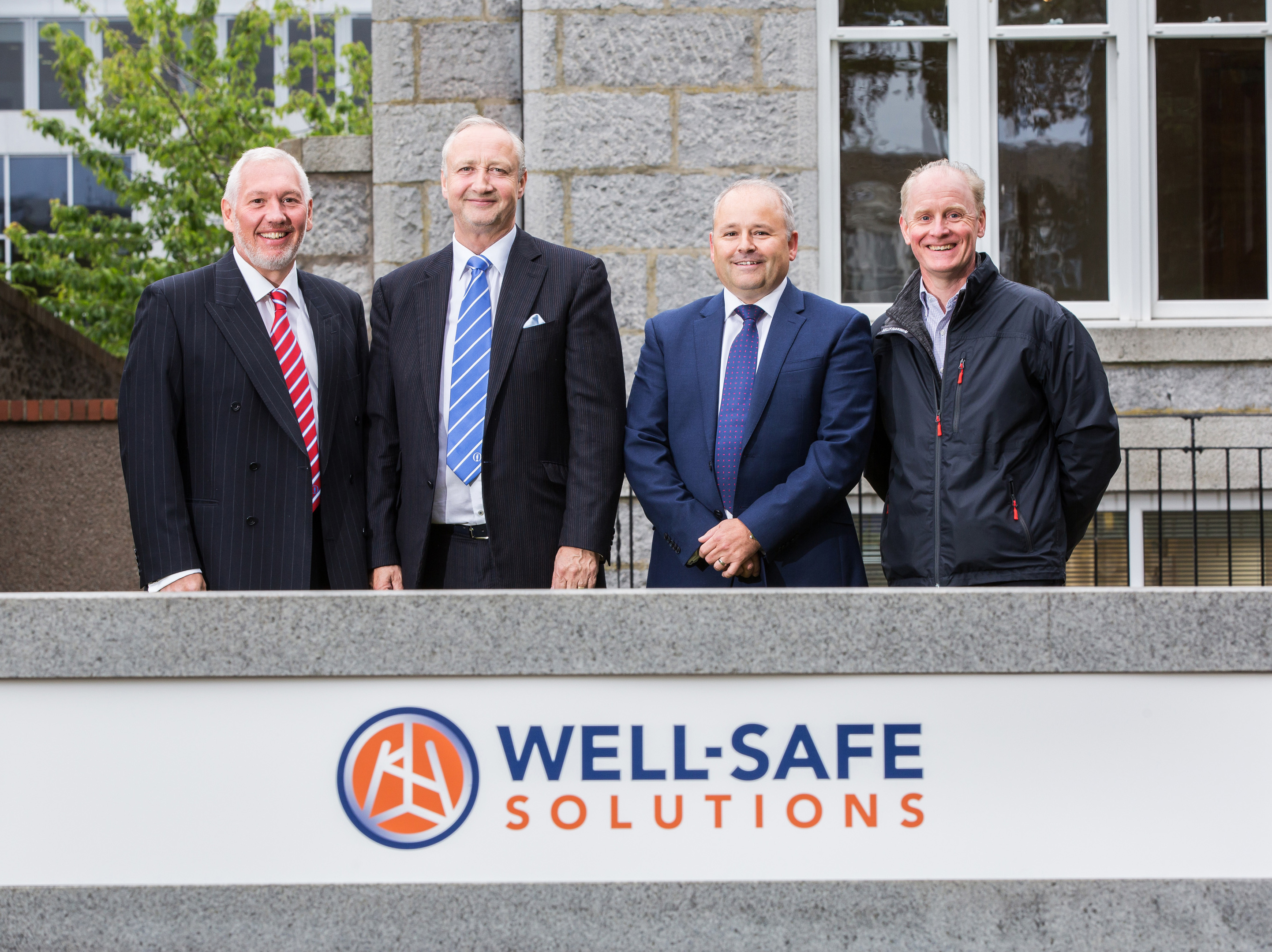 (L to R) Graeme Murray – Legal and commercial director, Mark Patterson – Executive director, Phil Milton - CEO, Glenn Wilson - chief technical officer.