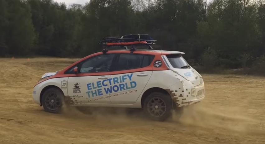 Adventurer Chris Ramsey's electric vehicle.