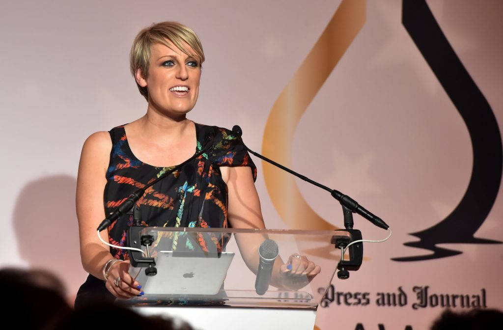 Press & Journal's Gold Awards 2017, at the Marcliffe Hotel.  Picture of Steph McGovern.  Picture by KENNY ELRICK     08/09/2017
