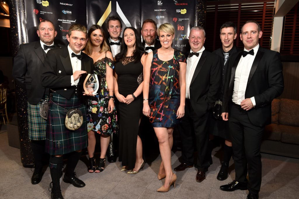 Press & Journal's Gold Awards 2017, at the Marcliffe Hotel.  Picture of Peterson table and Steph McGovern.  Picture by KENNY ELRICK     08/09/2017