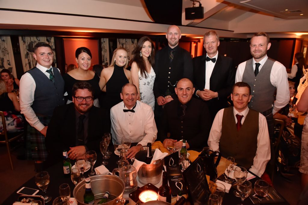 Press & Journal's Gold Awards 2017, at the Marcliffe Hotel.  Picture of table 20 AISUS Offshore.  Picture by KENNY ELRICK     08/09/2017