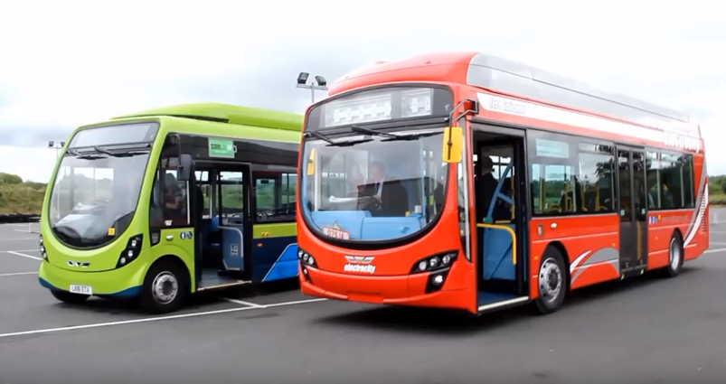 Wrightbus unvial their new fully electric vehicles.