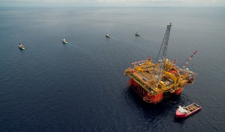 The Ichthys LNG Project's central processing facility – Ichthys Explorer.